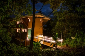 Casa Tamandua at night